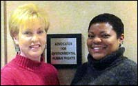 Attorneys Nathalie Walker and Monique Harden, founders of Advocates For Environmental Human Rights