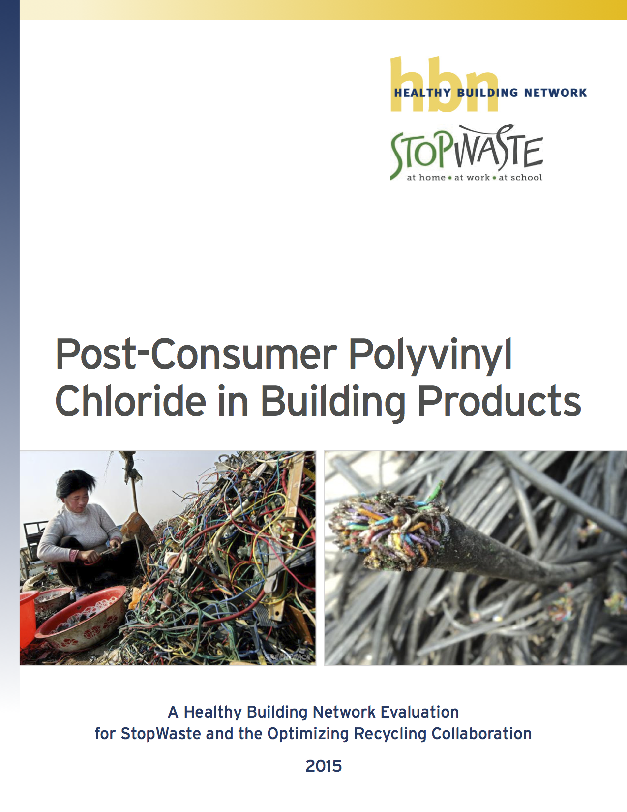 Post-Consumer PVC Report cover image