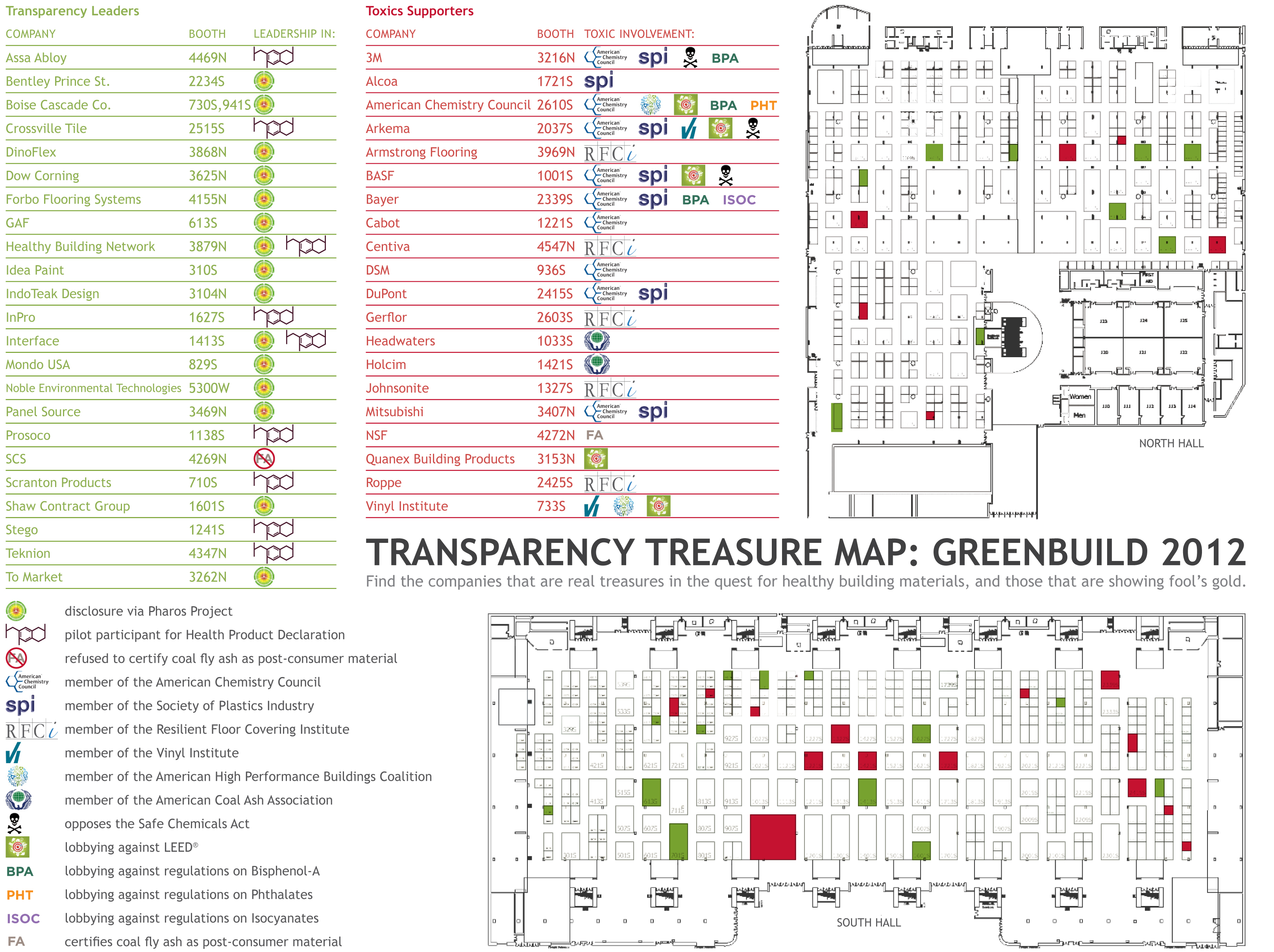 Greenbuild 2012 Transparency Map